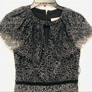 London Times lace overlay column dress NWT
